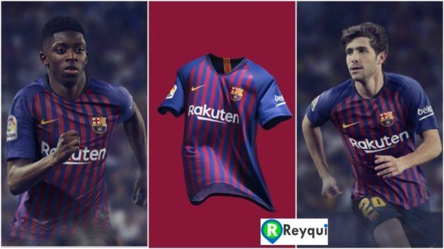 Uniforme del Fútbol Club Barcelona para la temporada 2018/2019 (España)